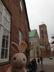 Right by it is the oldest hotel in Ribe.