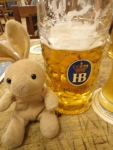 That beer was too big for this bunny.