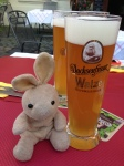 A German beer, of course.