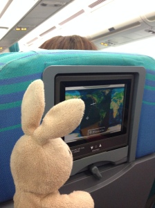 On the flight over, I watched a little tv!