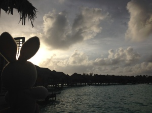 My first Bora Bora sunset