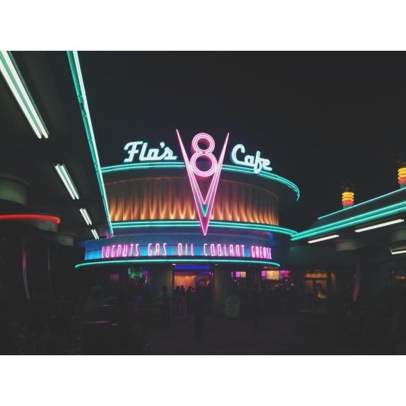 Ended the evening with a milkshake back at Flo's V8 Cafe in Cars Land. NOM.