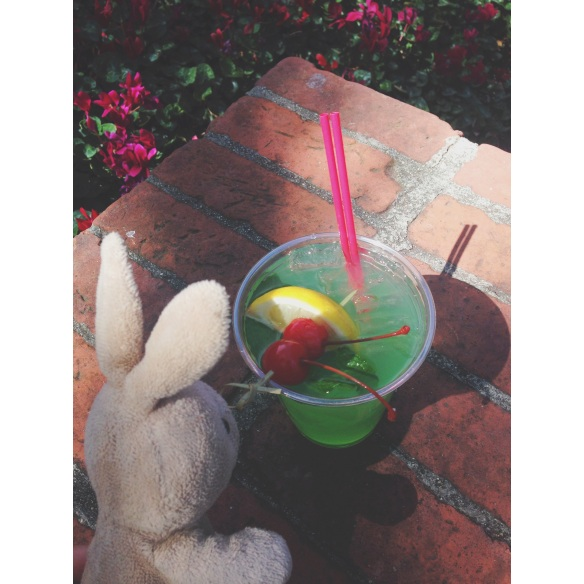 Grabbed a nummy mint julep to cool down on this toasty day.