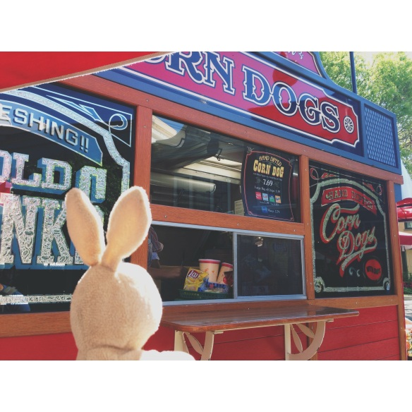 Lunch time at the corn dog truck!